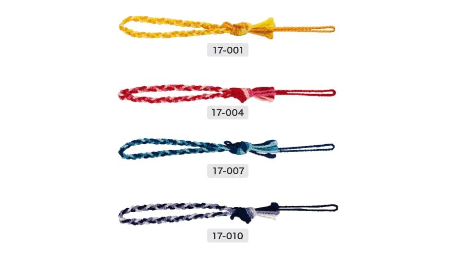 3ッ編1束結び根付紐の1目の画像
